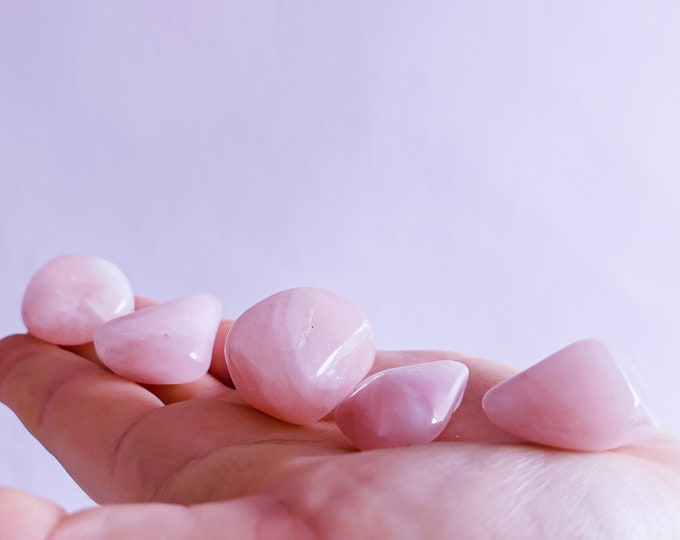 Rose Quartz Medium Polished Tumblestones / Encourages Self Love, Unconditional Love & Reduces Anxiety / The Crystal Of Love
