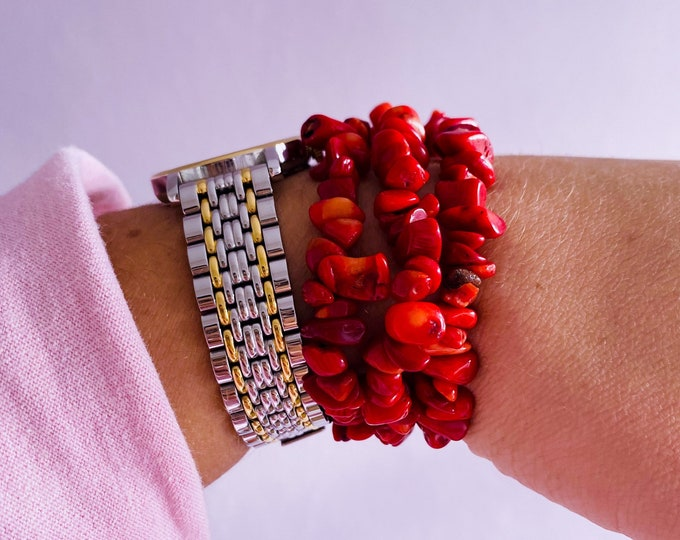 Sea Bamboo Coral Chip Bracelets / Banishes Fear, Nervousness, Anxiety & Nightmares / Tames Wild Tempers, Rages, Compulsive Disorders