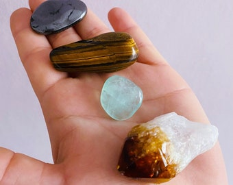 Good Luck + Focus Crystal Gift Sets / Cleanse Your Space / Good Luck, Concentration, Focus / Gift Set / New Job, Interview