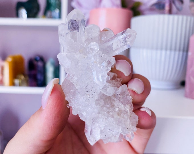 3) Small Clear Quartz Crystal Cluster / Must Have Crystal / 'The Master Healer' / Amplifies Intention & Energy / Protects Against Negativity