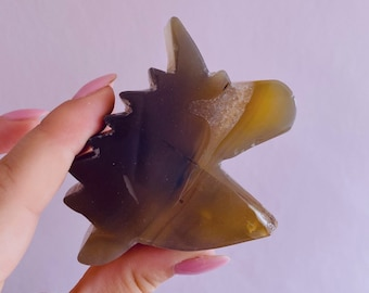 ON SALE! Beautiful Agate Crystal Unicorn 'D' / Transforms Negative Energy / Balances & Harmonises The Energy In Your Home / Concentration