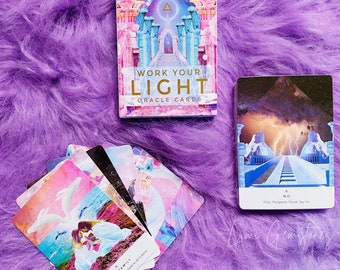 Work Your Light Pocket Oracle Cards by Rebecca Campbell / Tune In To Your Infinite Potential / Hear Messages From Spirit / Oracle Cards