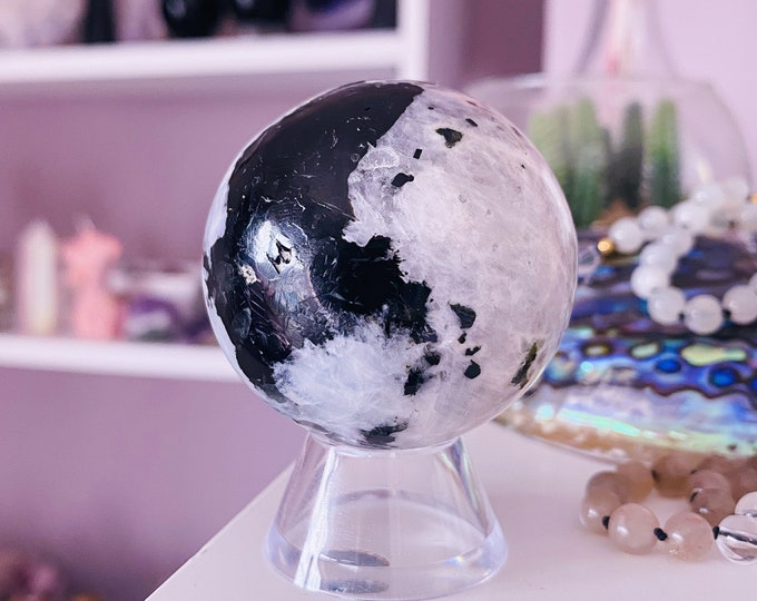 2) Rainbow Moonstone 45mm Crystal Sphere / Improves Inner Confidence / Brings Life Changing Inspiration