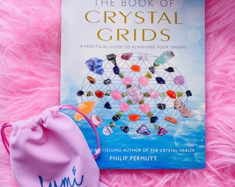 The Book Of Crystal Grids: A Practical Guide To Achieving Your Dreams by Phillip Permutt / Crystal Grids, Crystal Book, Gift For Her or Him