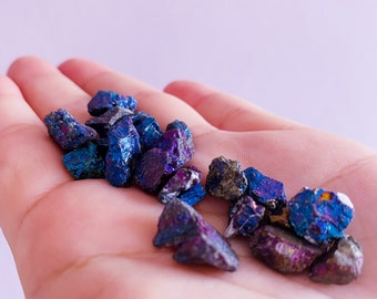 Peacock Ore Rough Crystal 20g Bags / Happiness, Joy, Positivity / Promotes Mindfulness, Helps Us Appreciate Joy & Beauty In Everything