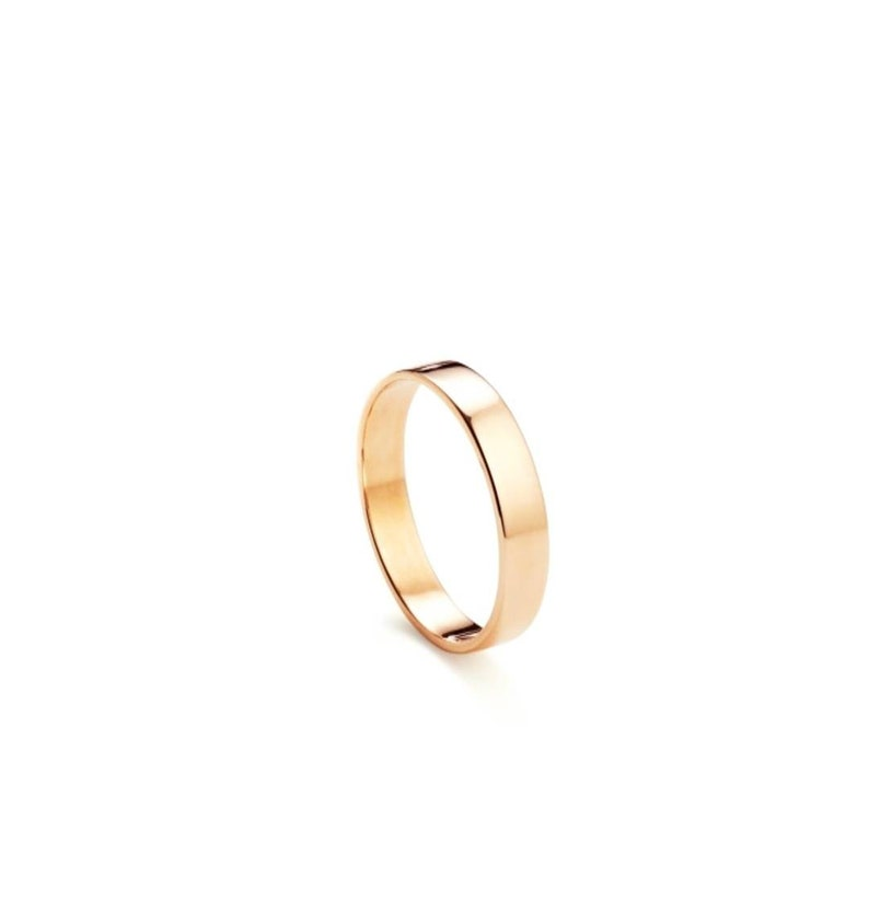 Stackable Rings Band Rings Wedding Band Silver Stainless Steel 3MM Daily Rings Gold Flat Rings Flat Band Ring Bands Rose Gold