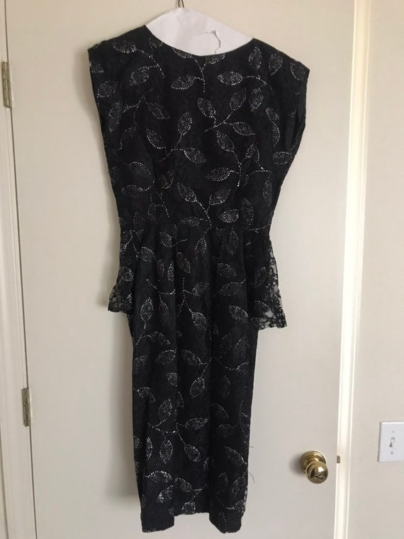 Black Sparkle Cocktail Dress