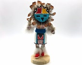 Native American Kachina Doll Sunface Handmade Indian Signed