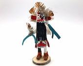 Native American Kachina Doll Warrior Indian Handmade Signed Artist