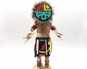 Native American Kachina Doll quot Sun Face quot Handmade Signed Indian Artist