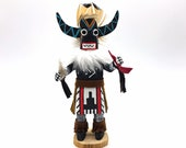 Native American Kachina Doll quot Angry Indian Artist Signed
