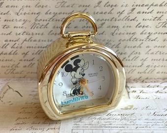 Minnie Mouse Alarm Clock - Rare Disney Collectable - Mickey Mouse Memorabilia