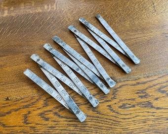Vintage Metal Folding Ruler - Vintage Collectable Tools - Metal Folding Ruler