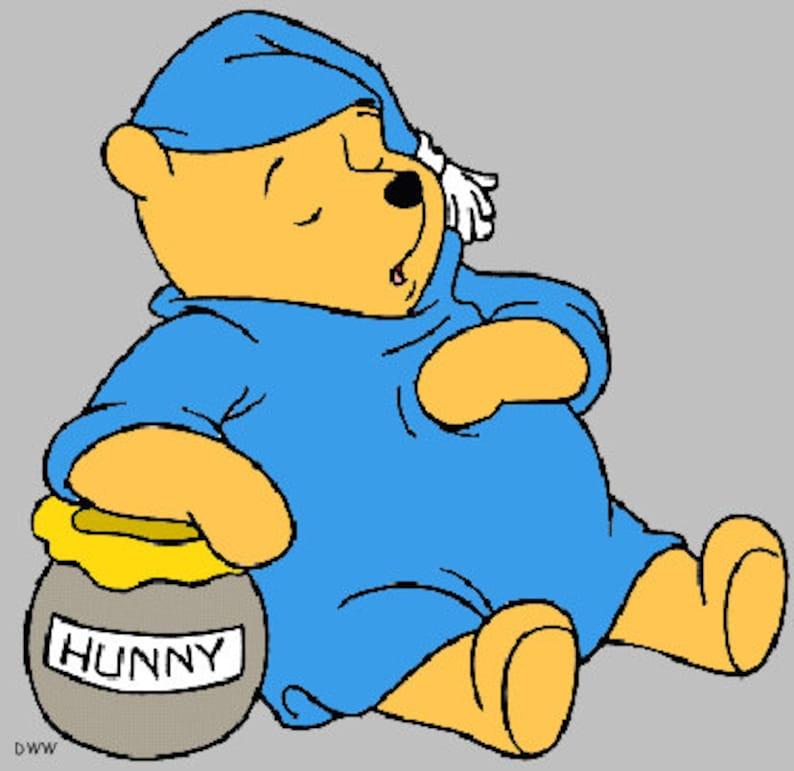5 winnie the pooh card size cross stitch chart pdf  etsy