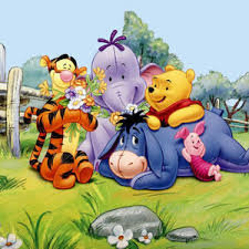 winnie the pooh r cross stitch chart pdf  etsy