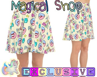 9c07b8c8039c3 Exclusive Little PRIDE symbol Proud to be me Teddy Bear Stuffie Heart DDLG  ABDL Age Regression Skater Skirt