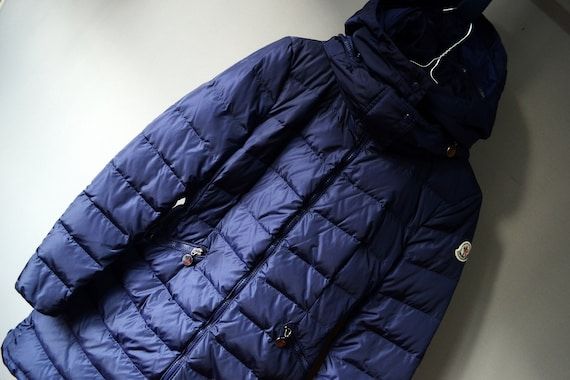 Women Moncler Flamme Giubbotto Blue Navy Coat Down Jacket Size 0 RRP1295 Rare Moncler 90s Coat Duffle Logo Moncler Luxury Down Rare Puffer