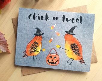 Halloween Greeting Card, Punny Halloween Card, Kids Halloween Note Card