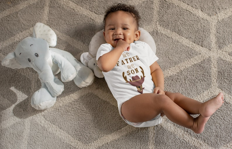 Like father like son Baby shower gift Father/'s day gift Baby onesies