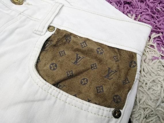 Louis Vuitton Patch Vintage White Men Straight Leg