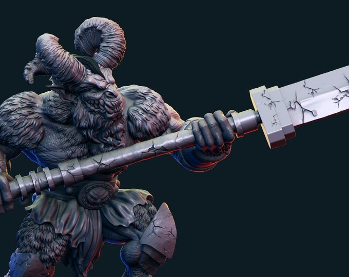 Demon - Pose 3 - 3D Printed Resin Miniature for Dungeons and Dragons, Pathfinder, Starfinder and other Tabletop RPGs