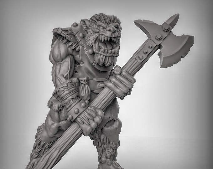 Bugbear - Pose 2 - 3D Printed Resin Miniature for Dungeons and Dragons, Pathfinder, Starfinder and other Tabletop RPGs