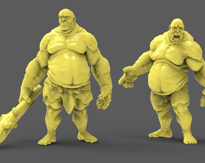 Hill Giant - 2 Poses - 3D Printed Resin Miniature for Dungeons and Dragons, Pathfinder, Starfinder and other Tabletop RPGs