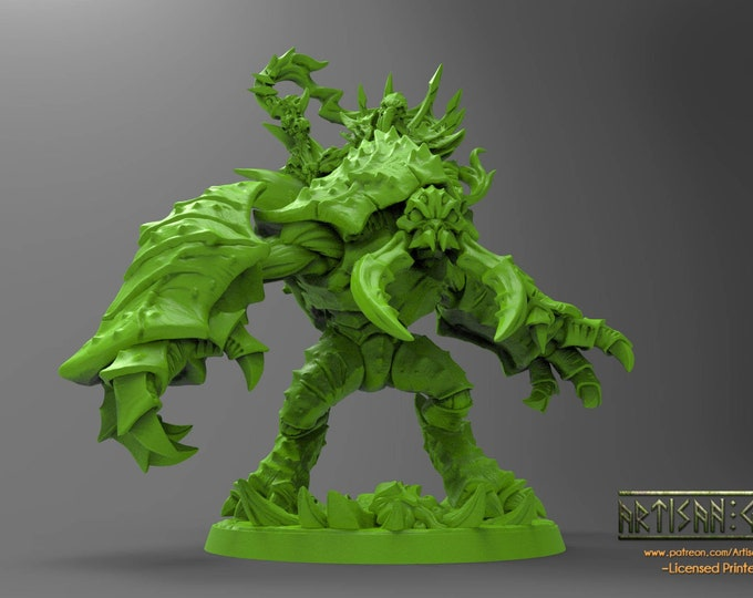 Slathos On Hive Colosus - 3D Printed Resin Miniature for Dungeons and Dragons, Pathfinder, Starfinder and other Tabletop RPGs