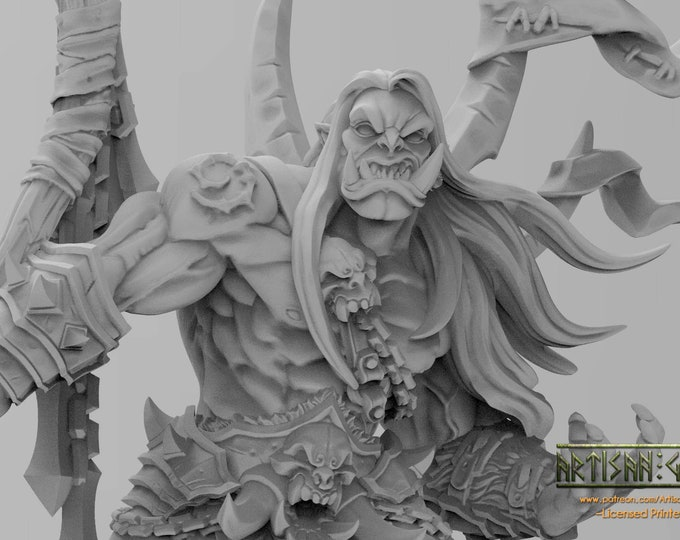 Throgar the Chainbreaker - 3D Printed Resin Miniature for Dungeons and Dragons, Pathfinder, Starfinder and other Tabletop RPGs