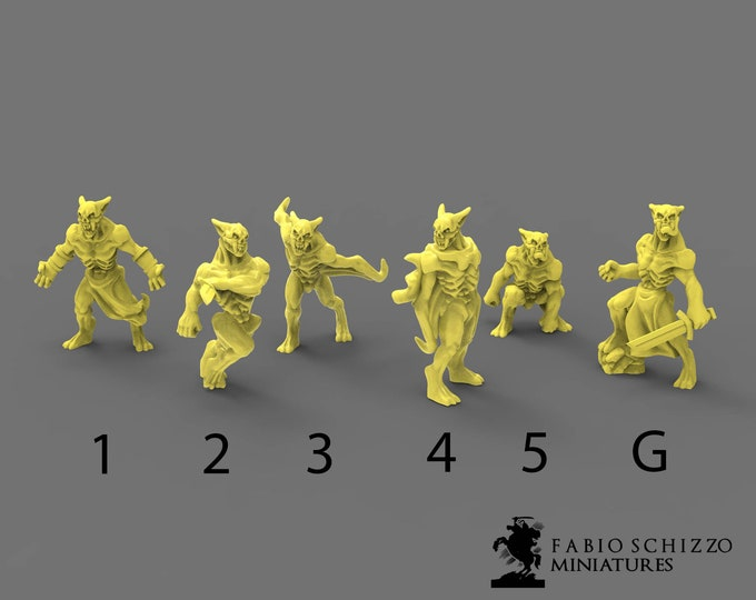 Lesser Vampires - 3D Printed Resin Miniature for Dungeons and Dragons, Pathfinder, Starfinder and other Tabletop RPGs