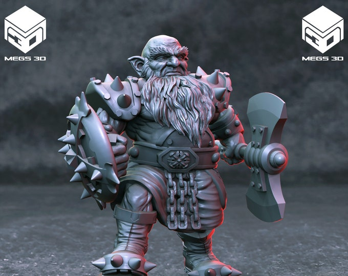 Dwarves - 7 Poses - 3D Printed Resin Miniature for Dungeons and Dragons, Pathfinder, Starfinder and other Tabletop RPGs