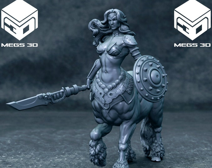 Male & Female Centaur - 2 Poses - 3D Printed Resin Miniature for Dungeons and Dragons, Pathfinder, Starfinder and other Tabletop RPGs