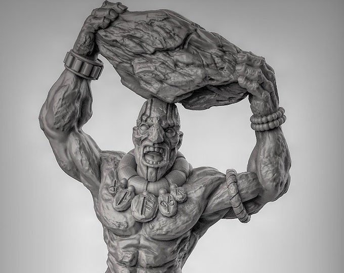 Stone Giant - Pose 1 - 3D Printed Resin Miniature for Dungeons and Dragons, Pathfinder, Starfinder and other Tabletop RPGs