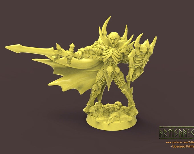 Drakenmir the Bonelord - 2 Poses- 3D Printed Resin Miniature for Dungeons and Dragons, Pathfinder, Starfinder and other Tabletop RPGs