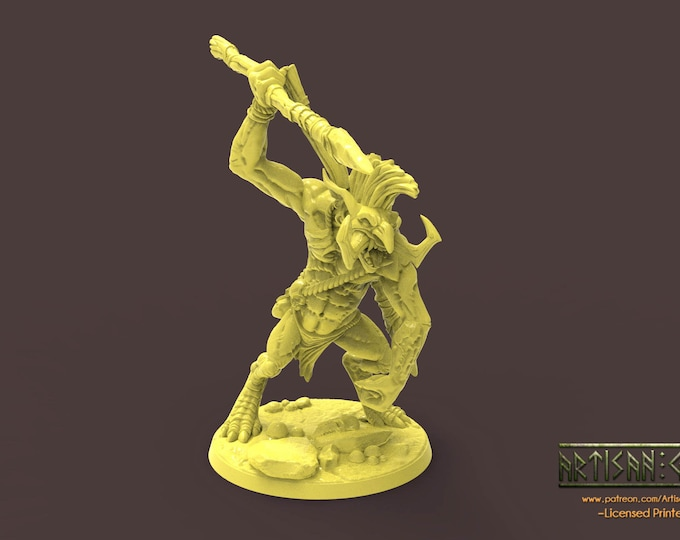 Rumpu the Drummer Troll - 2 Poses- 3D Printed Resin Miniature for Dungeons and Dragons, Pathfinder, Starfinder and other Tabletop RPGs