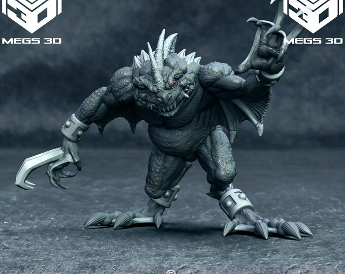 Grey Slaad - 2 Poses - 3D Printed Resin Miniature for Dungeons and Dragons, Pathfinder, Starfinder and other Tabletop RPGs