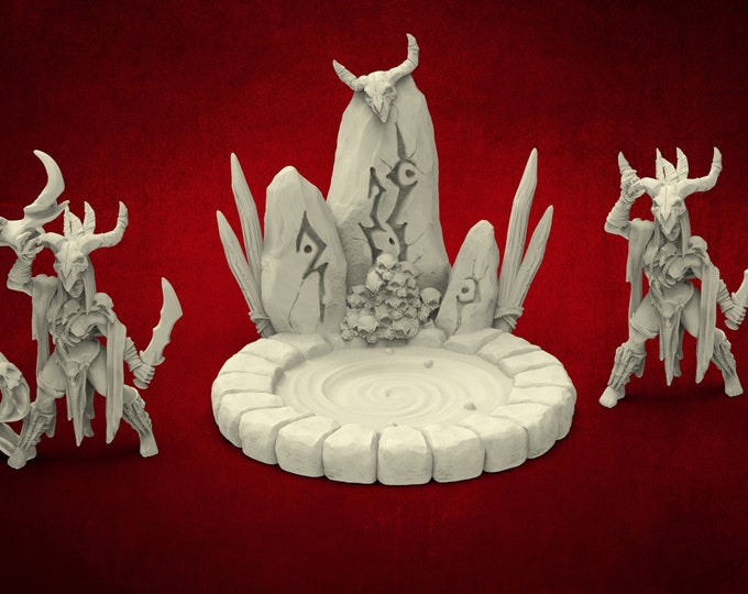 AMAZONS! Necromancer Tribe Blood Priestess - 2 Poses - 3D Printed Resin Miniature for Dungeons and Dragons Pathfinder and other Tabletop RPG