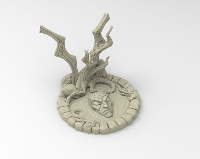 Sacred Well - Deepwood Alfar - 3D Printed Resin Miniature for Dungeons and Dragons Pathfinder Starfinder and other Tabletop RPG