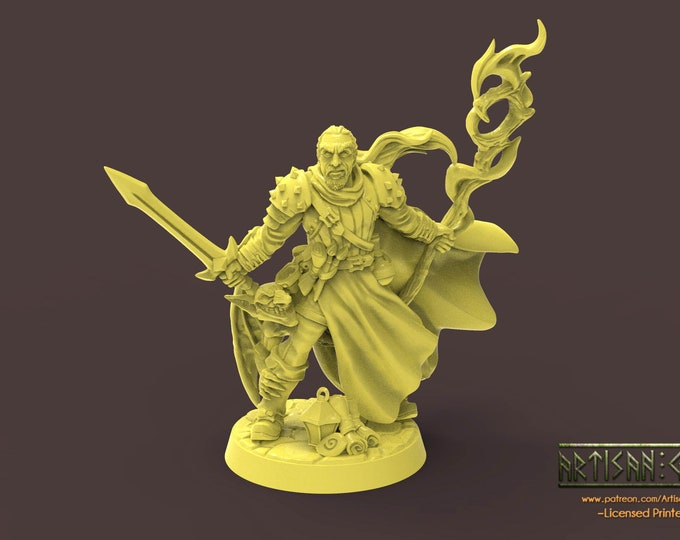 Wappellious Spellbrush - 3D Printed Resin Miniature for Dungeons and Dragons, Pathfinder, Starfinder and other Tabletop RPGs