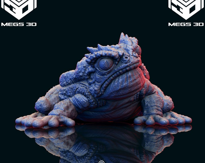 Giant Toad Bullywug - 3 Poses - 3D Printed Resin Miniature for Dungeons and Dragons, Pathfinder, Starfinder and other Tabletop RPGs