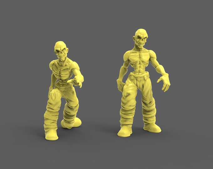 Zombies - 3D Printed Resin Miniature for Dungeons and Dragons, Pathfinder, Starfinder and other Tabletop RPGs