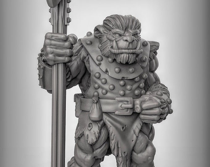 Bugbear - Pose 3 - 3D Printed Resin Miniature for Dungeons and Dragons, Pathfinder, Starfinder and other Tabletop RPGs