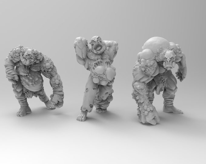 Orc Nurtured Ones - 3 Poses - 3D Printed Resin Miniature for Dungeons and Dragons, Pathfinder, Starfinder and other Tabletop RPGs