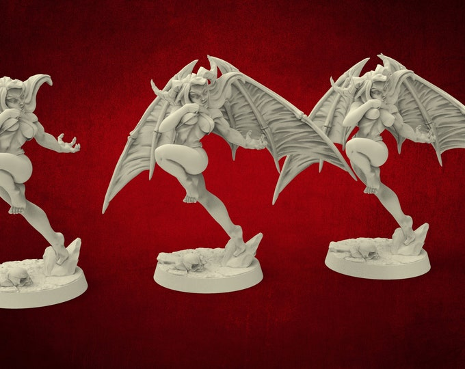 Demons Aya Lust Demon Succubus (Pinup) - 3 Poses - Dungeons and Dragons - DnD - Pathfinder - Miniatures