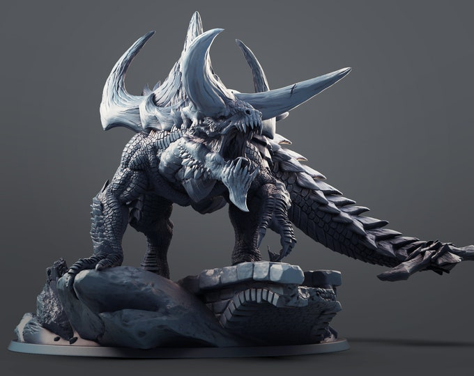 Tarrasque Tarasque 3D Printed Resin Miniature for Dungeons and Dragons, Pathfinder, Starfinder and other Tabletop RPGs