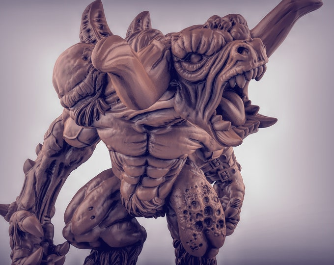 Chaos Minotaur 3D Printed Resin Miniature for Dungeons and Dragons, Pathfinder, Starfinder and other Tabletop RPGs