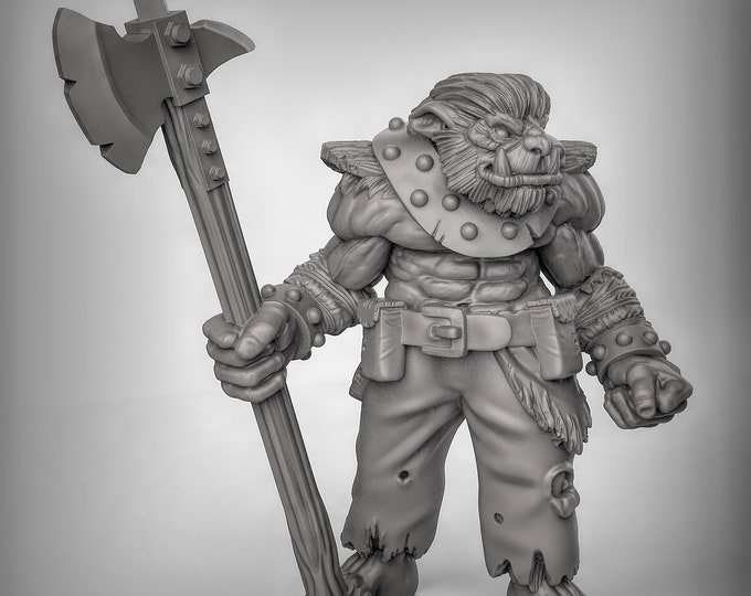 Bugbear - Pose 1 - 3D Printed Resin Miniature for Dungeons and Dragons, Pathfinder, Starfinder and other Tabletop RPGs