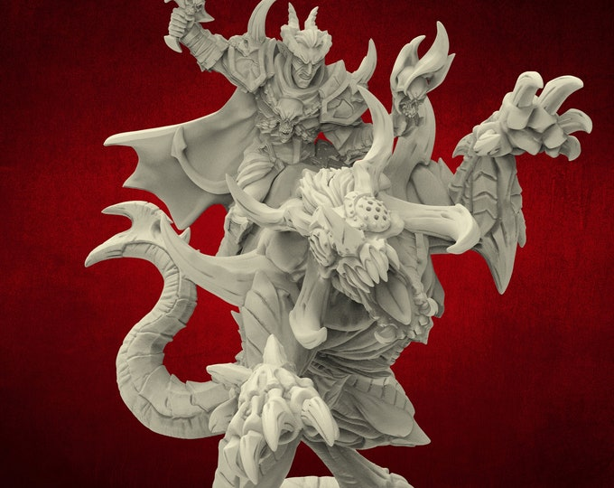 Demons Ildamos Half Blood & Rourazaak -  Poses - Dungeons and Dragons - DnD - Pathfinder - Miniatures