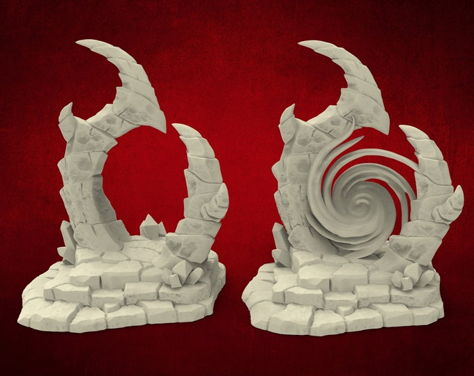 Demons Minion Portal - 2 Poses - Dungeons and Dragons - DnD - Pathfinder - Miniatures