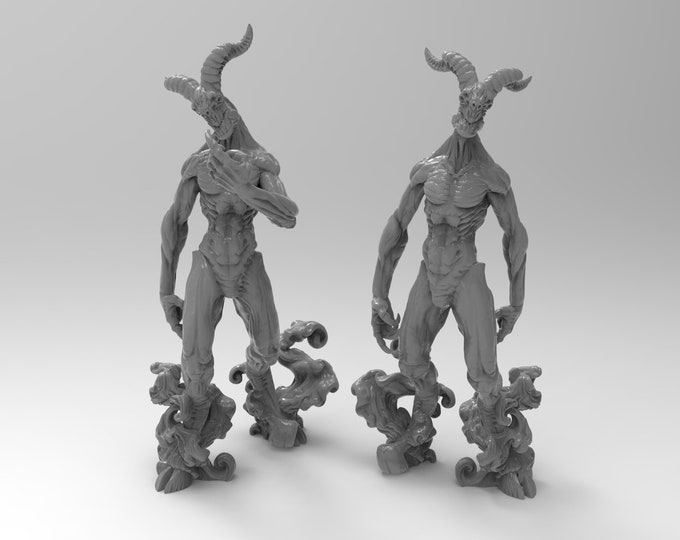 Nightwalkers - 2 Poses - 3D Printed Resin Miniature for Dungeons and Dragons, Pathfinder, Starfinder and other Tabletop RPGs